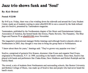 """Jazz Trio Brings Funk and 'Soul'"""