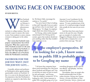 Saving Face on Facebook - The Onyx Informer (pages 10-11)