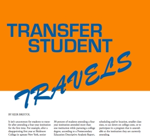 Transfer Student Travels - By Keir Bristol - The Onyx Informer (Pages 15-16)